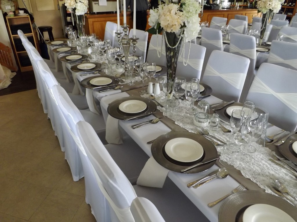 2 Wedding silver single table (Medium)